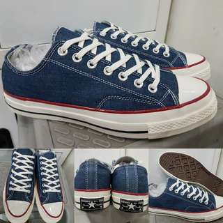 Sepatu Kets Converse Allstar Chucktaylor 70s Denim Low Navyblue Biru