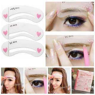 3 Styles Shape Frame Mini Eye Brow Class Drawing Guide Shaping Stencils Grooming Soft