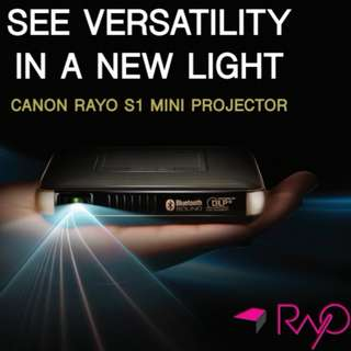 For Sale - new Rayo S1 compact palm size mini projector cum Bluetooth speaker, power bank