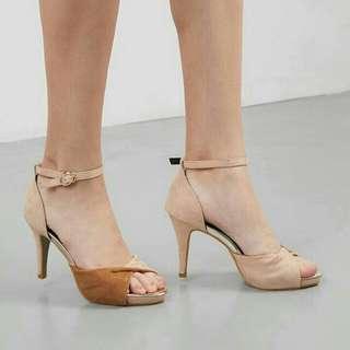 Nue Octo Heels BEIGE-BROWN