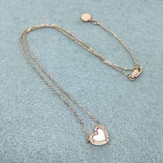 Michael Kors Sample Necklace 玫瑰金色心心貝殼材質頸鏈