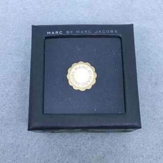 Marc Jacobs Sample Ring 白金色花花戒指 直徑1.65cm