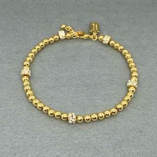 Kate Spade New York Sample Bracelet 金色閃石珠珠手鏈