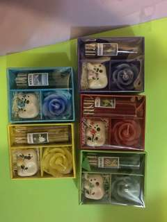 泰國香薰連蠟燭5盒$80