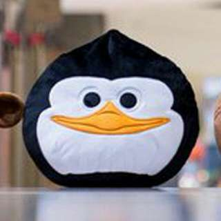 Brand New DreamWorks Kou Kou Koukou Skipper Madagascar Penguin Plush Cushion Pillow