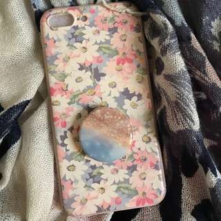 Premium softcase iphone7+ Flower printed