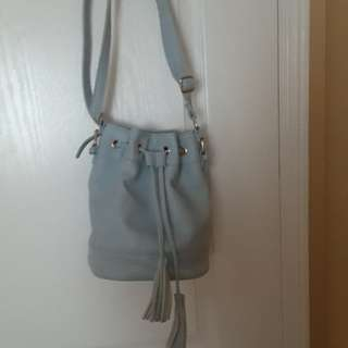 Baby blue bucket bag