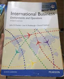 International business- environment and operations (Pearson)