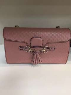 Gucci 手袋,粉紅及黑色選擇