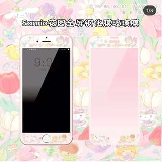 Sanrio 角色 花園風 iPhone 玻璃貼 mon貼
