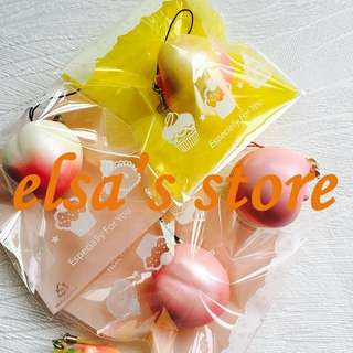 PO: 10 piece limited edition premium yellow peach squishies