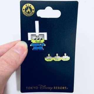 Tokyo DisneySea Toy story green man alien pin
