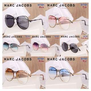 Glasses MARC JACOBS (UV-400) D7101#&  Kualitas      : Semi Premium Berat         : ±0,3 Kg  7 Warna       : BLACK, BLUE, BROWN, GOLD BLACK, GREEN, PINK, PURPLE Harga 130rb