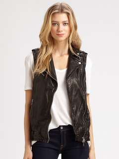 Mackage leather vest