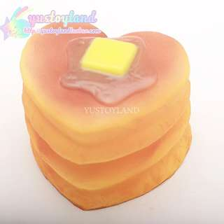 PO: 10 pieces stacked heart pancakes squishies