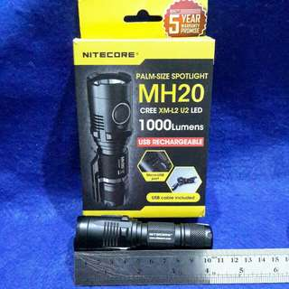 Nitecore MH20 1000 lumens USB rechargeable  flashlight