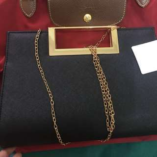 New look metal handle chain bag