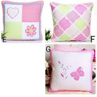 Sarung bantal cushion cover pillow patchwork quilting shabby shabbychic home decoration dekor rumah kamar perlengkapan rumah