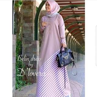 ST - 0318 - Dress Busana Muslim Wanita Belin