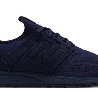 全新 100% New Balance Suede 247 深藍 Navy 新款鞋