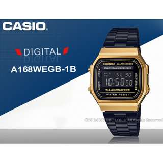FREE Acrylic Case Casio Black and Gold A168WEGB A168WEGB-1B