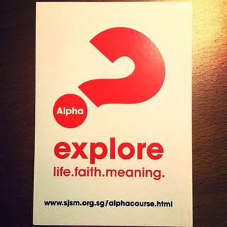 Weekly Alpha Course
