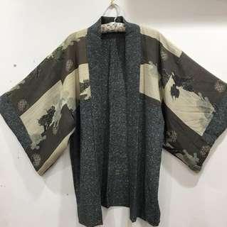 日本和服外套、兩面穿、時髦、保存良好