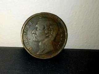 Sarawak C. Brooke 1cent Old Coin.