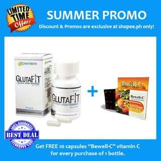 100% AUTHENTIC GlutaFit Glutathione (30 Capsules). Gluta Fit
