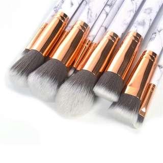Marble Brush Make Up 10 Set