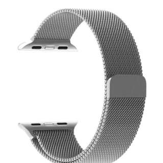 38mm Milanese Loop Stainless Steel Bracelet Strap Band for Apple Watch mm All Models No Buckle Needed (Silver