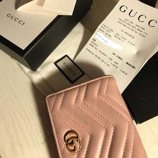 Gucci GG marmont wallet (read description)