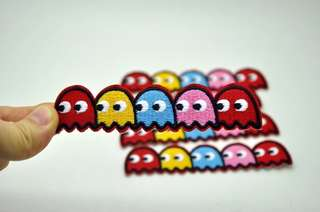 Iron On/Sew Embroid Pacman