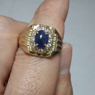 sapphire 375 gold ring for sell