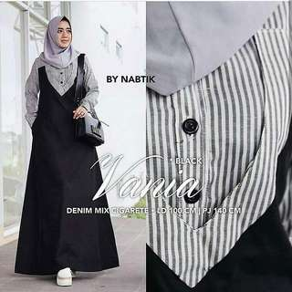 BL - 0318 - Dress Busana Muslim Wanita Vania