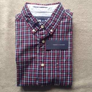 55%+ OFF Authentic Tommy Hilfiger Checkered Long Sleeves