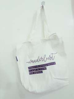 Wonderlust Canvas Small Tote Bag (Pre-Loved)