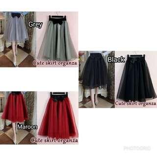BV4985Cl - Skirt/rok cute organza