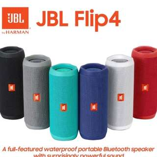 Brand new 100% original and authetic JBL flip4 speaker in assorted colors