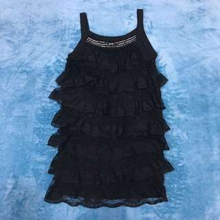 Black Lace Layer Cake Tops