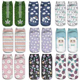Assorted Low Ankle Socks
