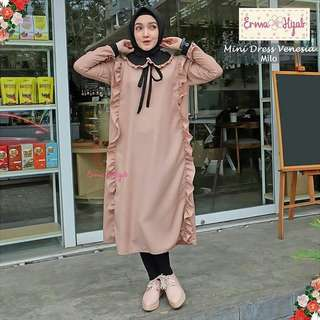 FF - 0318 - Dress Busana Muslim Wanita Vanesa Mini