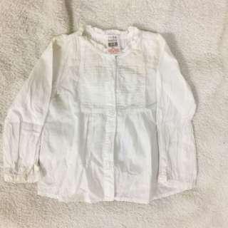 Zara long-sleevd blouse