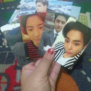 Official Exo photocard xiumin chanyeol tao