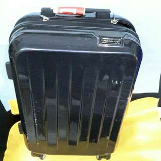 """Luggage American  Flyer  20"""" Carbin double coil zip , 8 wheels , expandable )"""