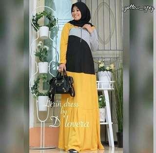 FF - 0318 - Dress Busana Muslim Wanita Lerin