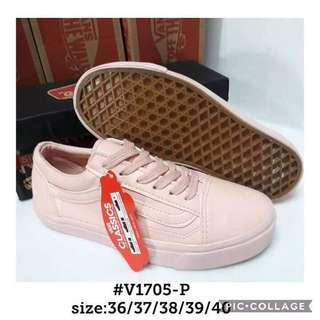 VANS LEATHER SNEAKER SHOES #V1705-P