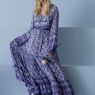 Spell designs kombi maxi skirt n lavender
