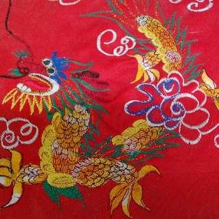 中国龙凤手工针线