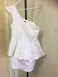 Size 12 white peplum dress